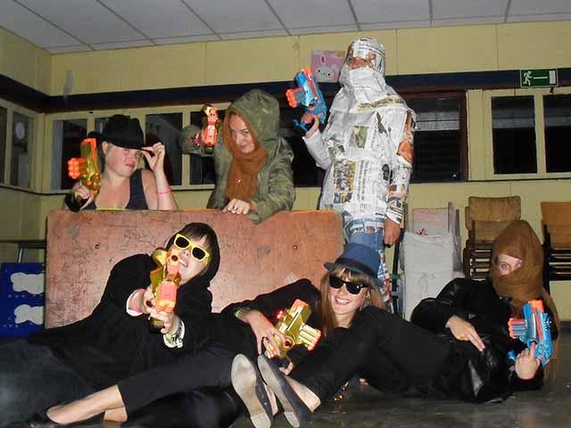 Teambuilding mummy lasergame